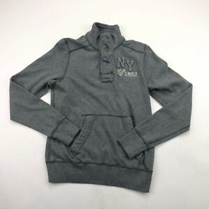 Abercrombie Youth Boys Gray Half Button Muscle Fit Pullover Large