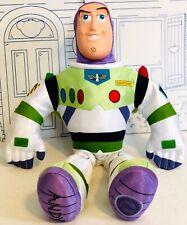 "Disney Store Toy Story BUZZ LIGHTYEAR Plush Doll Large MC 18"" Rubber Vinyl Face"