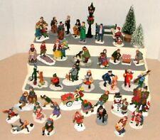 """Lot of 40 Resin Christmas Village Mini People Figures Figurines 1 3/4"""""""