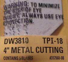"10 PCS 4"" DW3810 NEW DEWALT BI-METAL RECIPROCATING SAW BLADES 18 TPI MADE I"