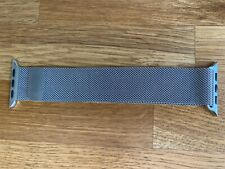Genuine apple watch silver stainless steel milanese loop strap band 42mm