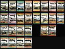 Ferrocarril Tren Locomotora de Japón Colección de 52 Sellos (líderes del mundo)