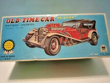 """DE LUX BATTERY OPERATED """" OLD-TIME CAR """" KING NEVER USED, CG-1225 MADE IN TAIWAN"""