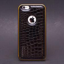 Crocodile Skin Leather Case Aluminum Frame Bumper for iPhone 6 / 6Plus