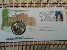 1980 THE 80th BIRTHDAY OF QUEEN MOTHER ELIZABETH STAMP & COIN TRIBUTE