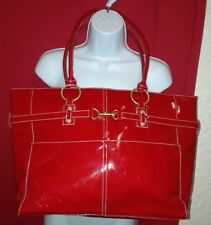 """WOMENS LANCOME *RED* TOTE CARRY ALL SHOULDER BAG  11.5 × 16""""  - DURABLE"""