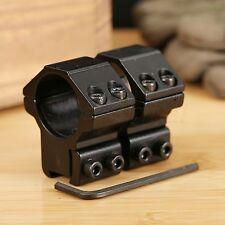 "2×Medium Profile 25.4mm 1"" Scope Rings 11mm Dovetail Weaver Rail Mount for Rifle"