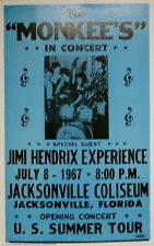 "The Monkees Concert Poster 1967 w/ Jimi Hendrix Experience - Tour Opener 14""x22"""