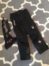 Spyder Snow Bib Pants kid youth Size XS black removable straps suspenders