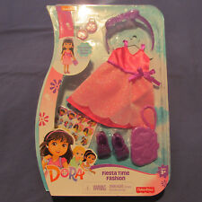 Doll Clothes 15 in Dora Explorer Fiesta Time Fashion Pack Dress Shoes Access New