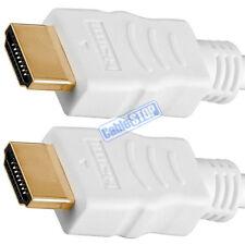 Corto 50 cm 4K Ultra HD 2160p HDMI Cable ARC 3D Blanco 0.5 M