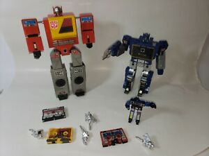 Transformers Hasbro G1 Mini Cassette and Players Lot Blaster Soundwave & More