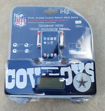DALLAS COWBOYS DUAL ALARM CLOCK RADIO, IPOD DOCK!!!