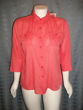 "New!  Size Large 12/14 orange White Stag button up  top chest 48"" X Length 26"""