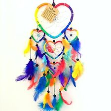 DREAM CATCHER GIRLS BOYS RAINBOW CHAKRA DREAMCATCHER HEARTS