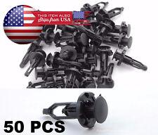 50 Pcs Black Push-Type Fastener Rivet Retainer Clips 52161-02020 For Toyota