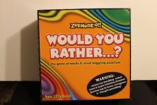 Would You Rather Board Game Zobmondo Party Family Game 100% Complete 2003