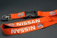 Card Key Bag Phone Neck Lanyard Car Keychain Key Ring NISSAN Styling Logo Red