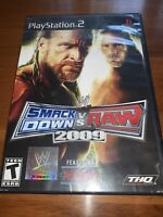 WWE Smackdown VS Raw 2009 - PS2 PlayStation 2 - Tested Complete