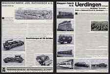 Reklame Reichsbahn Waggonfabrik Rathgeber München Moosach Eislieg Uerdingen 1935