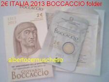 2 euro fdc Unc Italie 2013 700 ans BOCCACCIO Italia Italien Italy Италия folder