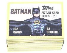 . 1989 Topps BATMAN MOVIE series 2 -132 cards,all clean, no wax / gum no sticker