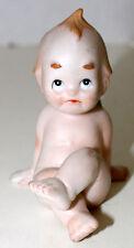 Kewpie Porcelain Crossed Legs Sad Face Cupie Doll Figurine Made In Japan