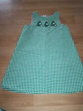 Size 5 Reversible Green White Checked Christmas Tree Dress Pink Ribbon Boutique