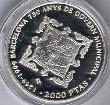 2000 Pesetas 1999 750 Aniv. Ayuntamiento de Barcelona