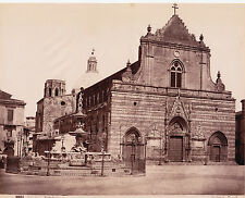 PHOTO VINTAGE ITALIE par SOMMER : DUOMO MESSINA CATHEDRALE, SICILE vers 1880