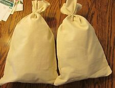 "2 CANVAS BANK COIN  MONEY SACK BAG 12"" BY 19"" DEPOSIT CHANGE BAGS TRANSIT"