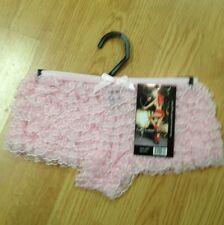 Pink Ruffled Tanga Short Panties By Leg Avenue
