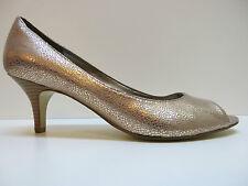 Bandolino Shelley Copper Pink Animal Print High Heel Open Toe Pumps 10M MSRP $89