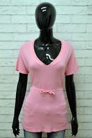 Polo MARELLA Donna Taglia L Maglia Maglietta Camicia Shirt Woman Elastico Rosa