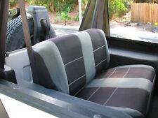 Jeep Wrangler 1987-96 Custom Neoprene Car Seat Cover Rear set Charcoal YJ