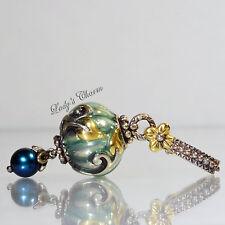 Barbara Bixby Blue Pearl Lantern Charm Enhancer Sterling 18k Gold Pendant