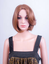 Ladies Forever Young Light Auburn Short Cropped Bob Wig Full Wig UK Wigs