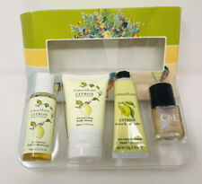 Crabtree Evelyn Citron Honey Coriander Gift Set Lotion Hand Therapy Nail Polish