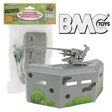 BMC WW2 PILLBOX BUNKER Defense w/Gun 1:32 Scale Accessory for Plastic Army Men