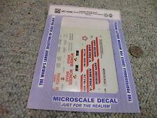 Microscale decals HO MC-4296 Hostess Wonder Bread bicentennial 4 bay hopper  H25