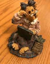 """Boyds Bears Figurine Bearstone Collection """"Welcome to the 21st Century"""" Ltd Ed-S"""