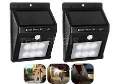 6 led smd solaire pir capteur de mouvement mur lumière patio extérieur jardin lumière