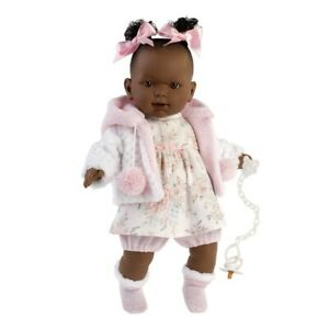 Llorens Nicole 2021 African American Crying Baby Girl Doll 42cm