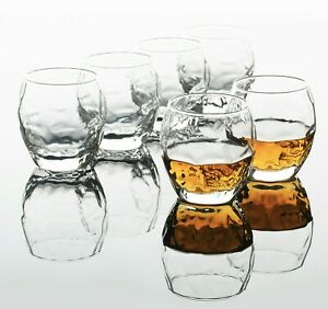 Whiskey Glasses for Scotch, Bourbon, Liquor and Cocktail Drinks 🔥 set of 6 pcs