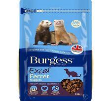 EXCEL FERRET - (2kg) - Burgess Nuggets Feed Pet Animal Food Pellets bp PawMits k