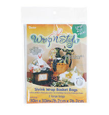 Basket Shrink Wrap Bag - Clear - 30 x 30 inches - 2 pack  fnt