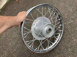 bsa triumph conical hub Rear 17 Inch Wheel With Good Dunlop Rim