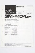 PIONEER GM-4104ZM Original woofer Amplifier Service-Manual/Schaltplan/Diagram 97