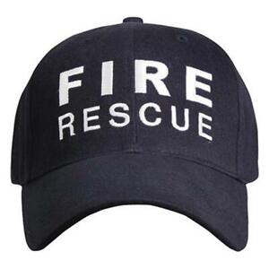 Rothco Fire Rescue Supreme Low Profile Insignia Cap, Navy, FIRE RESCUE in White
