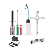 Nitro Starter Glow Plug Igniter Charger Tools Fuel Bottle Combo for Redcat HSP